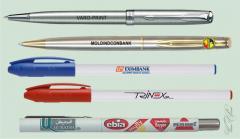 Нанесение логотипа компании на ручки от VARO-PRINT