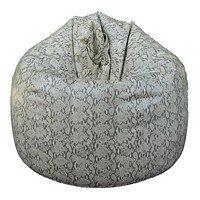 Кресло груша Bean-Bag Silver Python