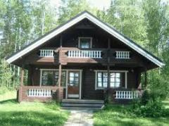 Houses are the wooden Finnish