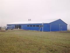 Ангары мини фермы свинофермы в Молдове металоконструкций