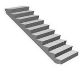 Steps are ladder reinforced concrete