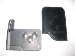 Cover from genuine leather for a key car