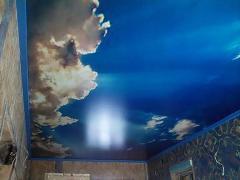 Натяжной потолок. Глянцевый, матовый