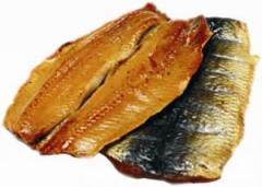 Fillet of the Atlantic herring smoked