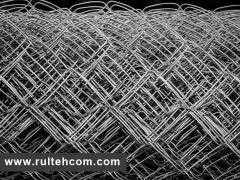 Сетка плетеная металлическая для забора. Сетка