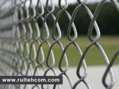 Grid Chain-link galvanized. A grid for a fence