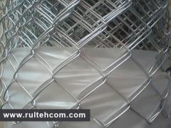 Grid Chain-link galvanized. Intaking grid. A grid