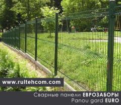 Сварные панели. Заборные панели. Eurogard. Panou