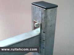 Столб металлический для европанели. Stilp metalic pentru gard