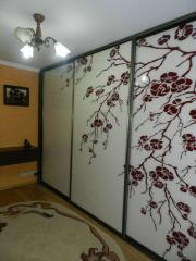 Stained-glass windows for sliding wardrobes