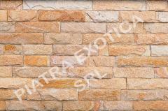 Камень натуральный облицовочный 5см скол цвет: Злато
