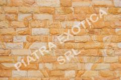 Камень натуральный облицовочный 5см скол цвет: Персик