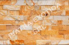 Stone of natural facing 5 cm color: Peach