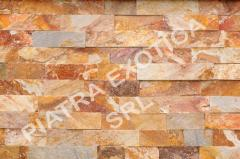 Stone of natural facing 5 cm color: Cherry