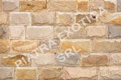 Stone of natural facing 10 cm chip color: Caramel