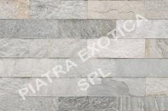 Камень натуральный облицовочный 10х30см цвет: HIMACHAL WHITE