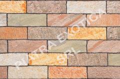 Камень натуральный облицовочный 10х30см цвет: KK WHITE