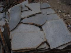 Slate quartz, fragmentary, large fraction color: