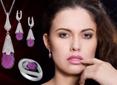 Кулоны с бриллиантами