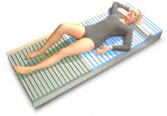 Mat (mattress) for extension of a backbone of