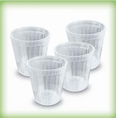 Glasses of 100 ml, 200 ml