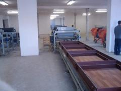 Line of production of wall three-layer composite panels