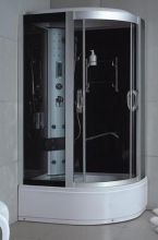 Shower cabin of OLIVIA Dark Blu 120 (SLD-8827) lef