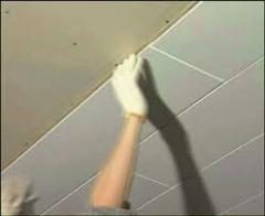 Decorative panels of false ceilings