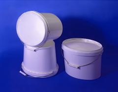 Buckets are plastic oval