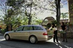 Car automobile Mercedes-Benz of a class E