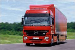 Truck of Mercedes-Benz Actros
