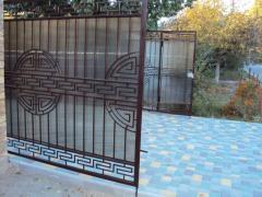 Ворота стальные ажурные