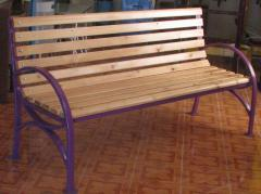 Benches with a back