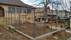 Frameworks metal for greenhouses and hangars