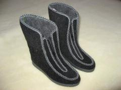 The footwear is winter