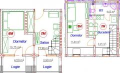 3-комнатная мансарда 6-7М/AD39-3