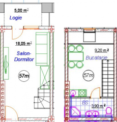 Однокомнатная квартира 57M/AI12