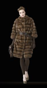 Fur coats from a sable