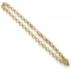 Браслет золотой цепочный