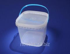 Ведра пластиковые квадратные 1л