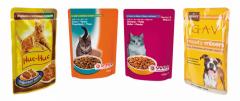 Реторт упаковка для влажных кормов животным