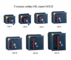 Wall GK safes of the GOLD series