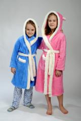 Dressing gowns are children's, fluffy, warm
