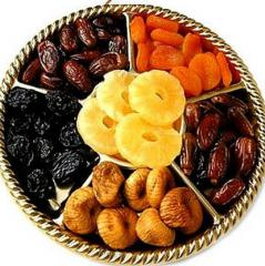 Dried fruits in razdny packings at the best
