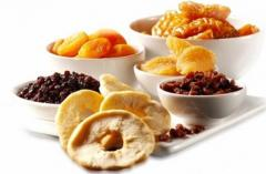 Fruit dried for export to the CIS countries and