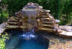 Фонтаны, водопады, искусственные водоёмы, речки,