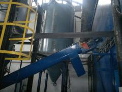 Lines of processing of soy, colza, flax,