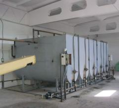 Cleaning equipment of vegetable oils, mini-plan