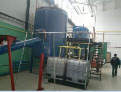 Equipment for filtering of vegetable oils