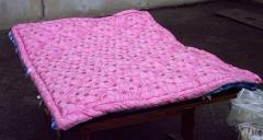 Одеяло для взрослых розовое из х/б ткани